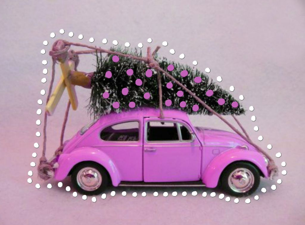 Thanks @PA for featuring this image in Smash  Hits  CHRISTMAS TREE Ornament   #vwbeetle #pink  #dottedoutline  #neonoutlines  (polka dots) #christmastree  #FreeToEdit