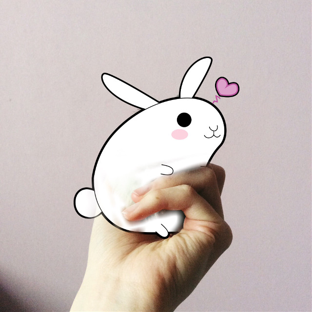 #FreeToEdit #cute #rabbit #love