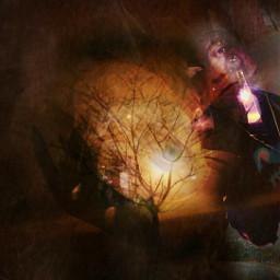 juxtaposition collage doubleexposure night winter