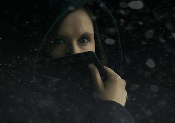 snow portraitphotography