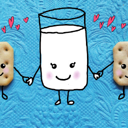 freetoedit milk cookies myedit mydrawing