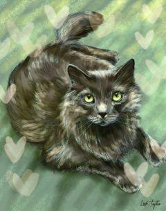 cat drawing art digitalart