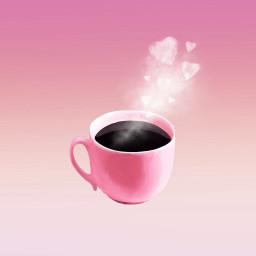 goodmorning shotofcoffee prettyinpink heartsandglitter cofeecup freetoedit