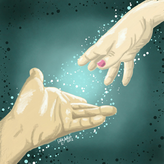 """""""Reach out for me""""  #painting  #digitalart  #digital  #art  #hands  #love  #emotions"""