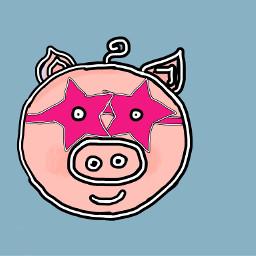 wdppiggie superhero superpig starryeyed pigpic piggylove pinkiepie thewriterdownunder vote4vote