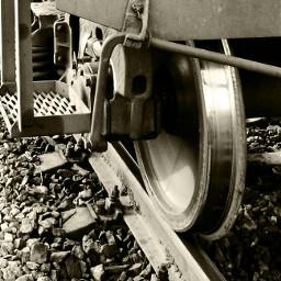 railway railroadtracks rails railroadtrack sepia