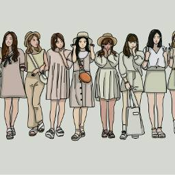 fashion girls white yellow
