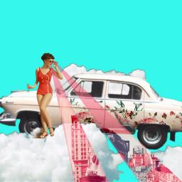freetoedit vintage car girl