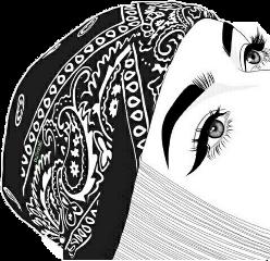blackandwhite bandana eyes eyelashes eyeliner