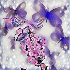 freetoedit dailyremix flowers butterflies flowergirlremix